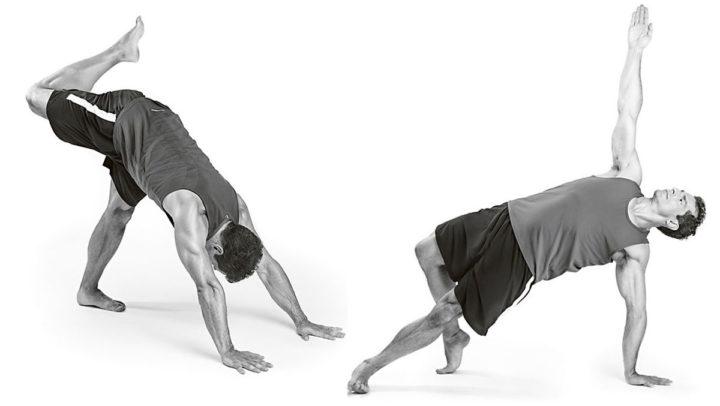 Man som yogar